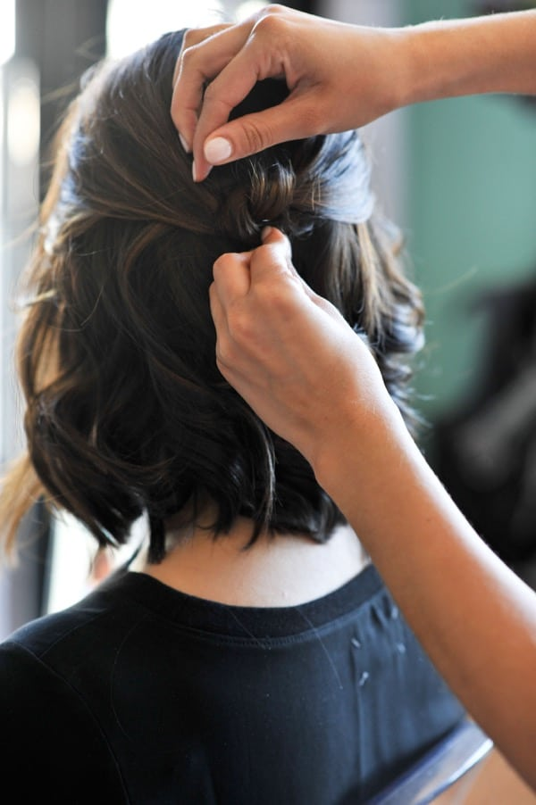 Half Updo For Short Hair