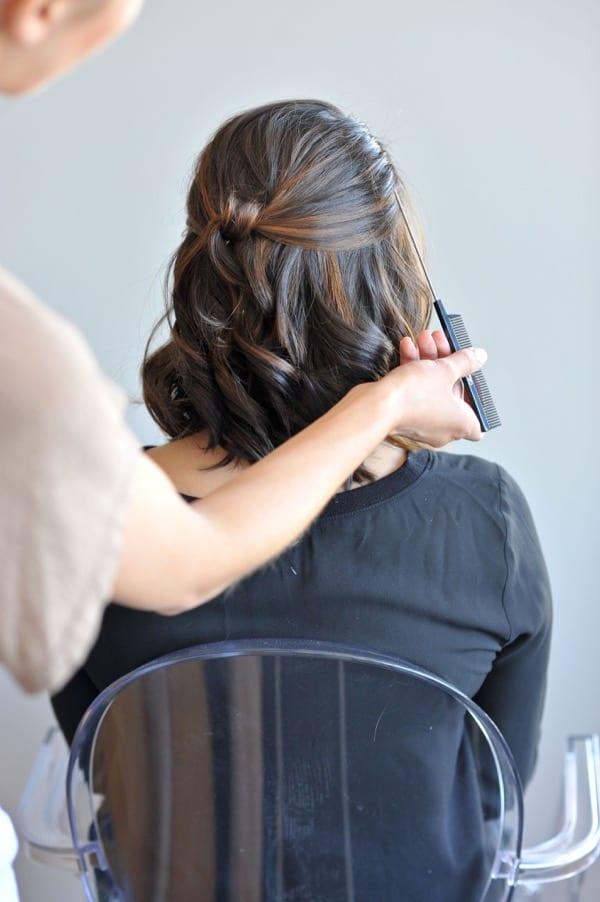 short hair updo hair tutorial via @Mystylevita - 6