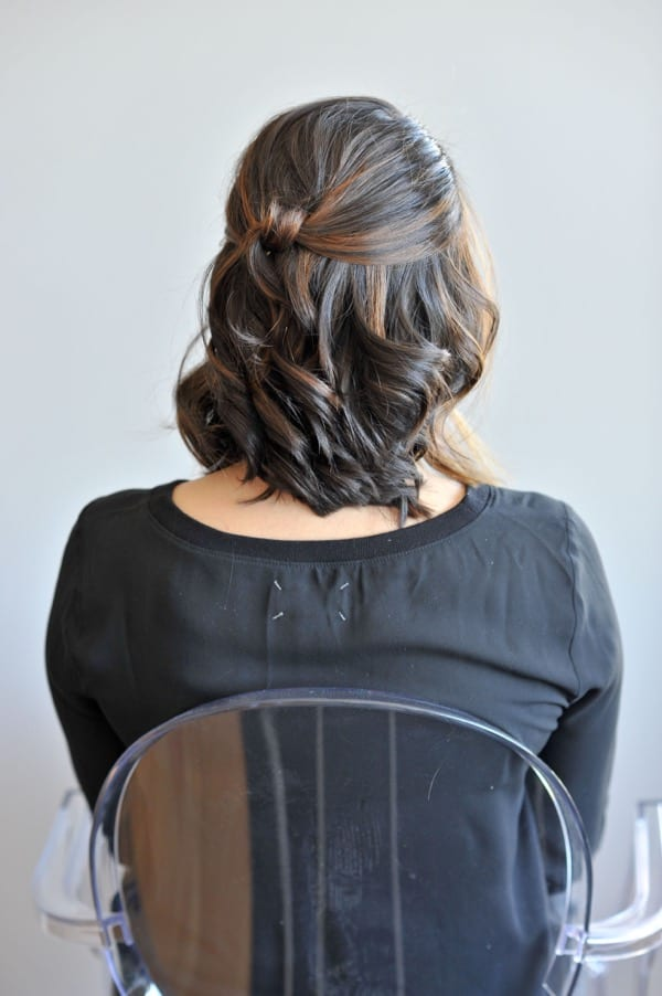 short hair updo hair tutorial via @Mystylevita - 7