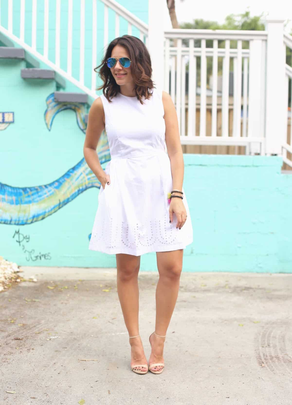 How to style a white dress for summer