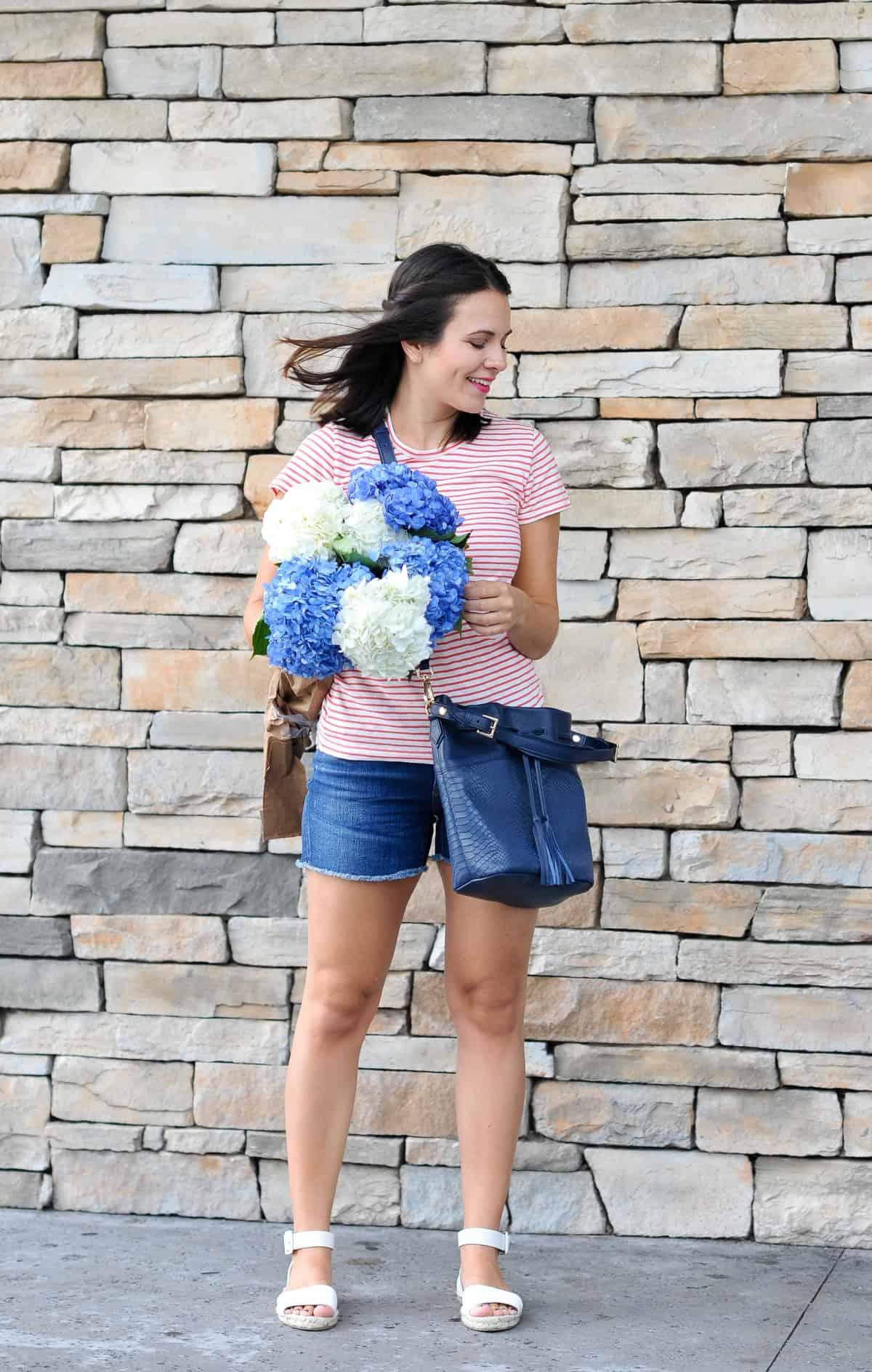 J.Crew summer outfit, hydrangeas, flowers via @mystylevita