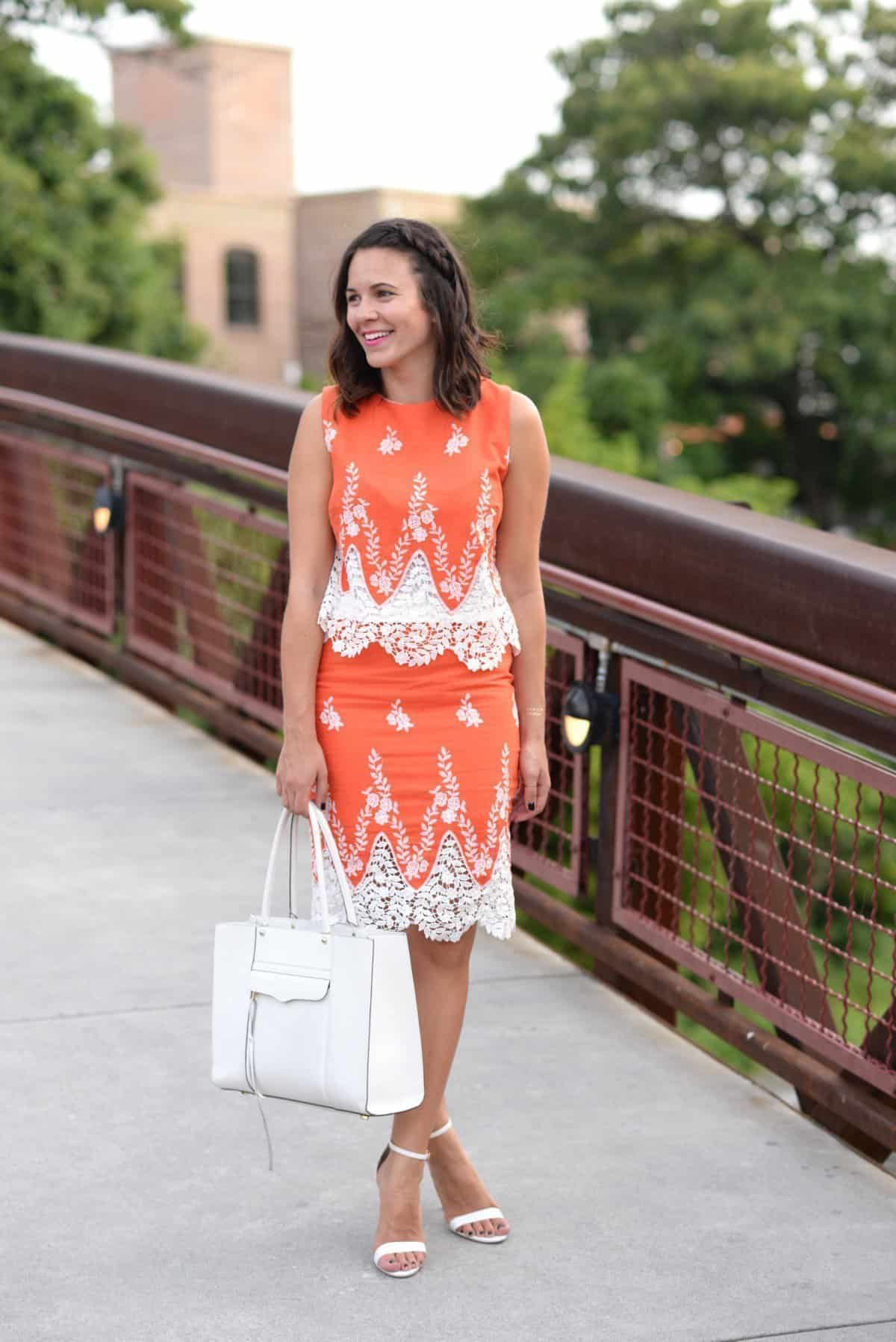 LMae Boutique orange lace crop top and pencil skirt set via @mystylevita - 1 (14)