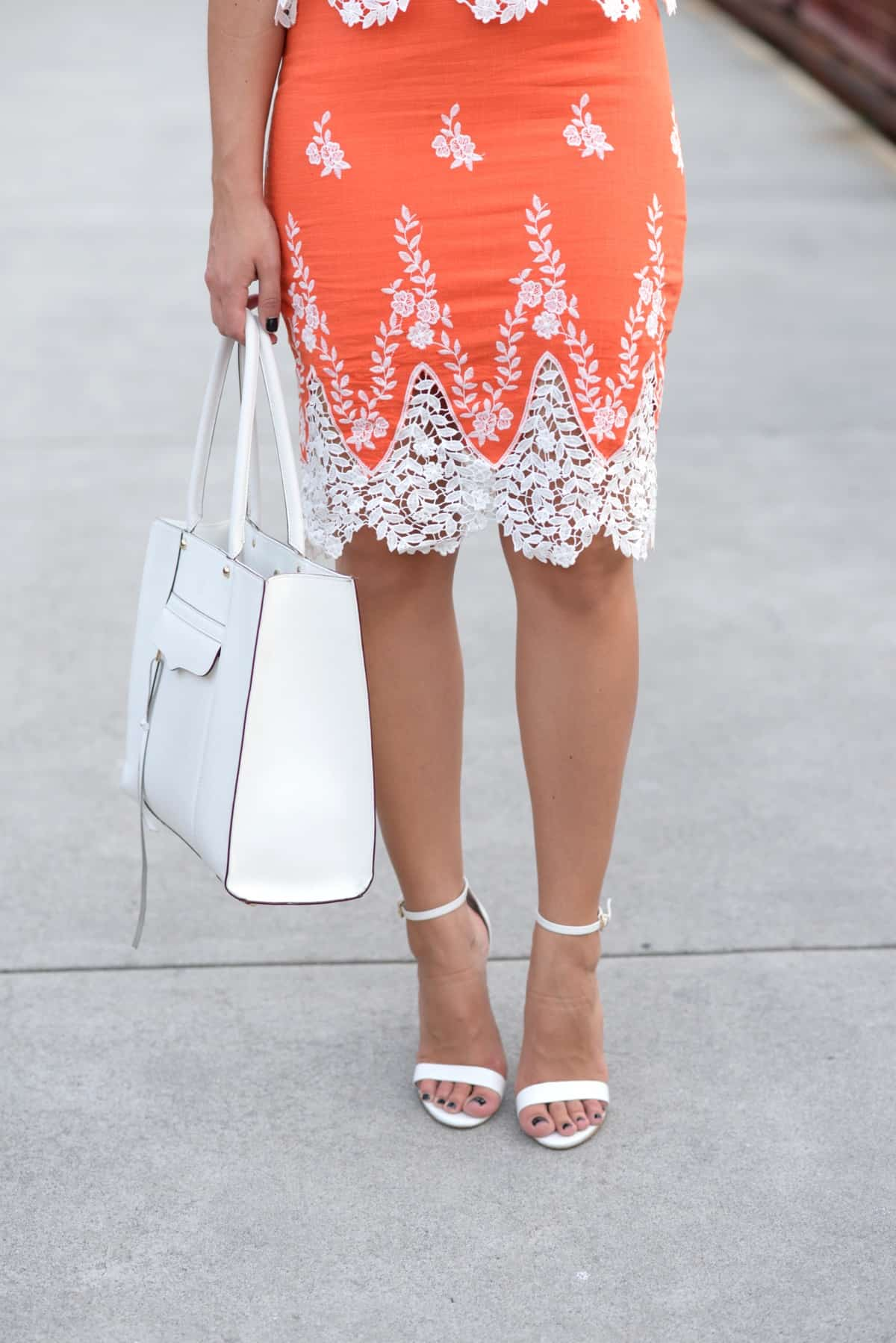LMae Boutique orange lace crop top and pencil skirt set via @mystylevita - 1 (8)