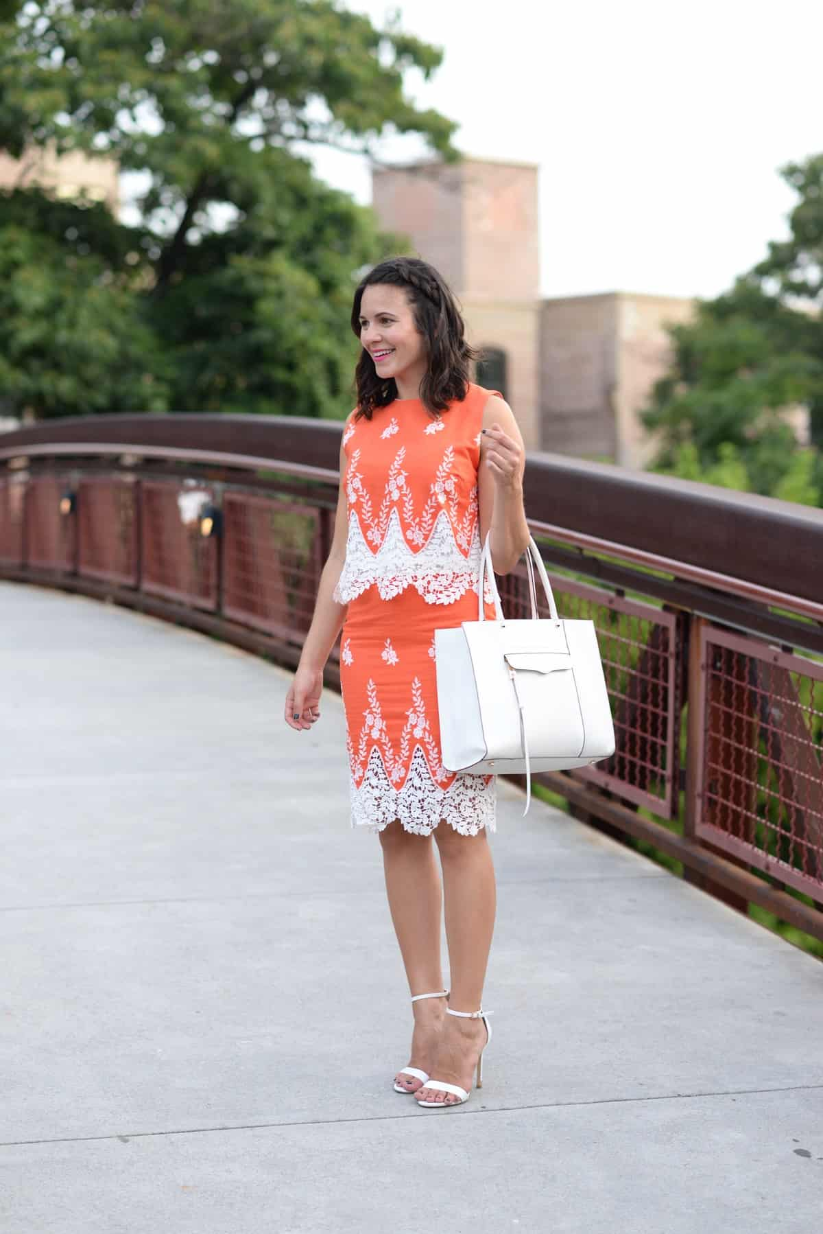 LMae Boutique orange lace crop top and pencil skirt set via @mystylevita - 1 (9)