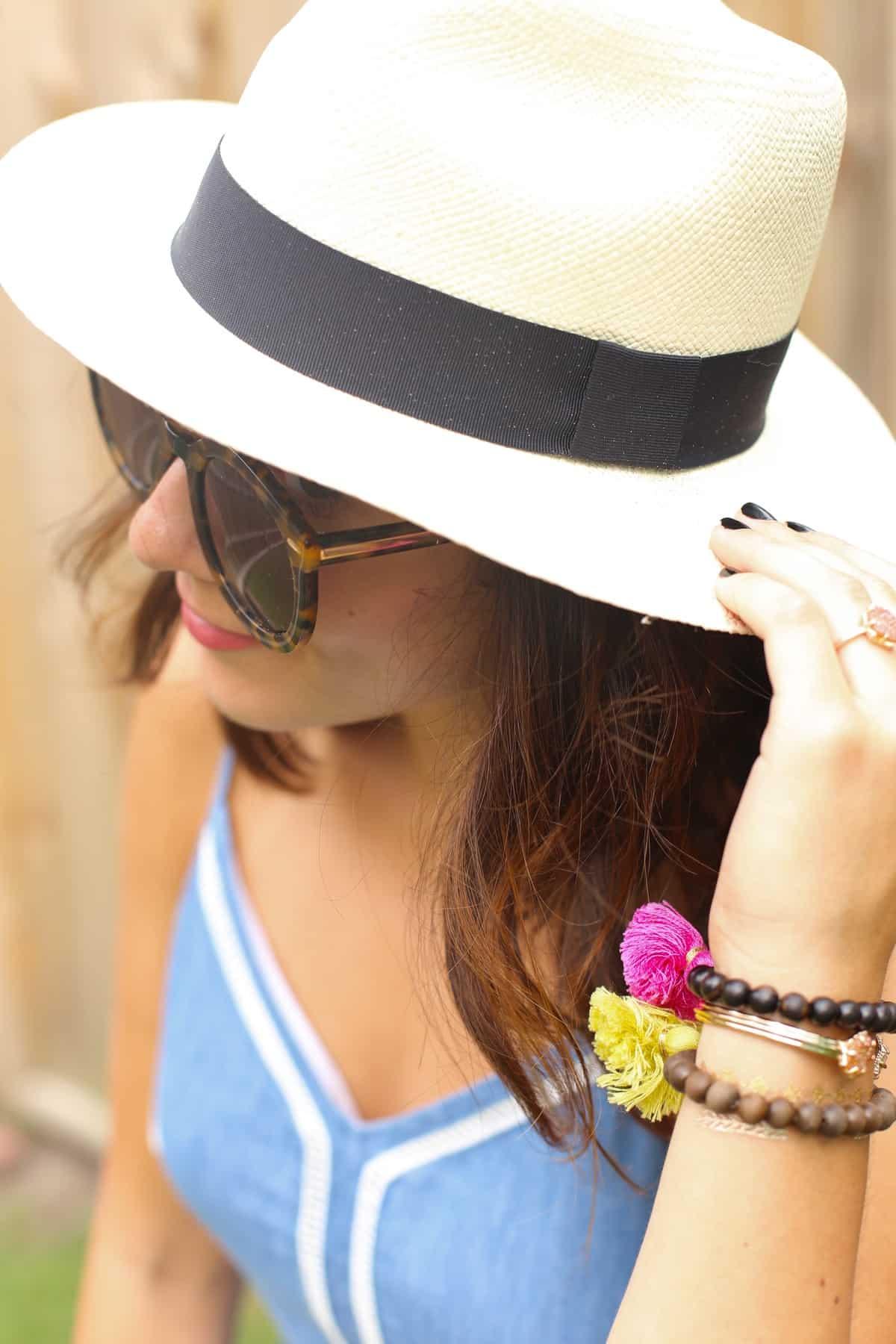 818d6d56f68 ... Chambray denim summer dress and panama hat via  mysytleivta Jessica  Camerata