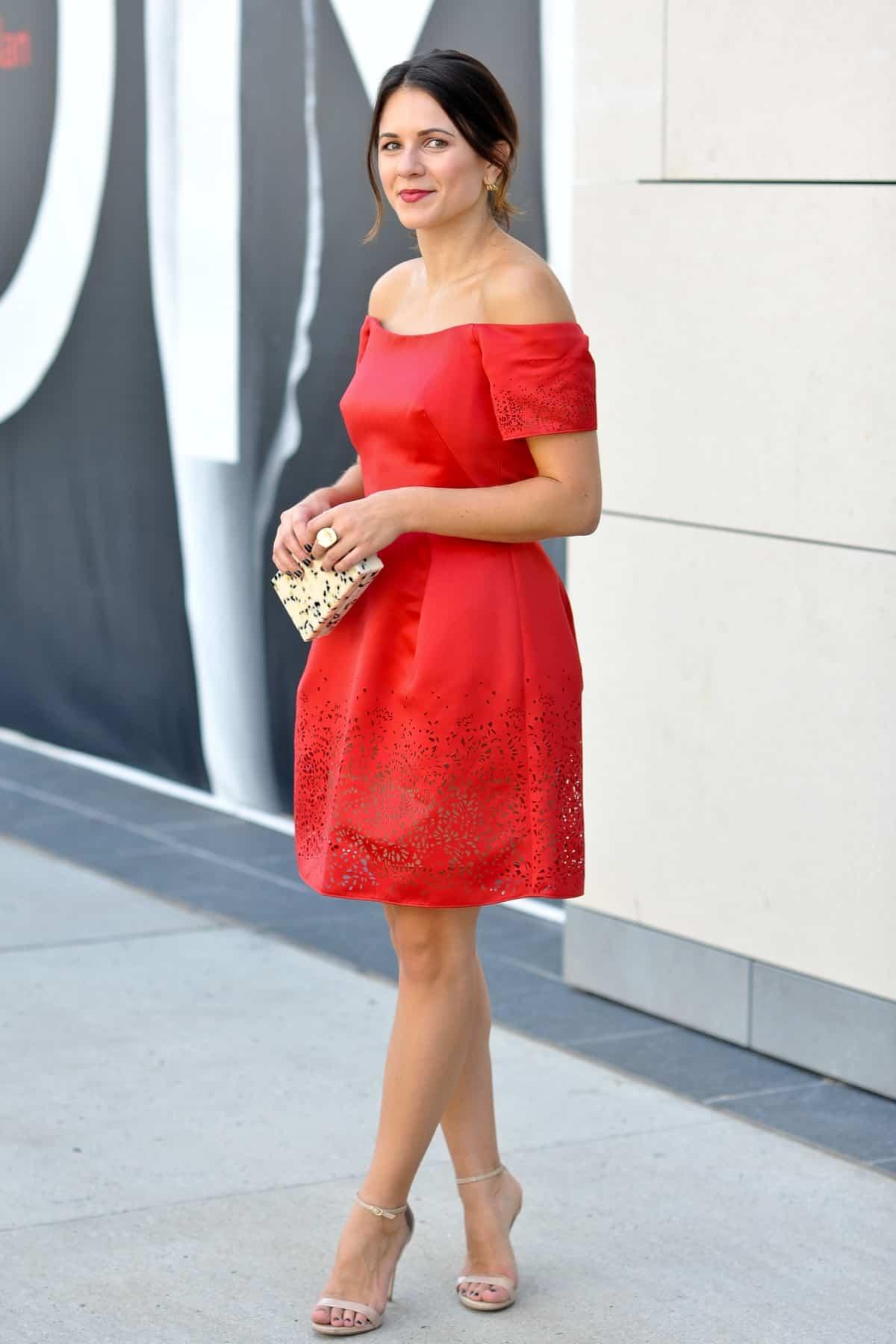 Marchesa Notte Red Dress via @mystylevita