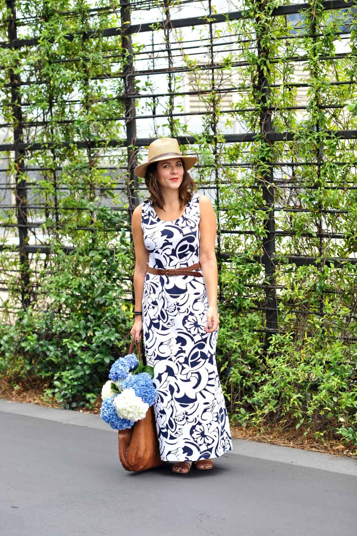 Talbots Printed Maxi Dress via @mystylevita fashion blogger, atlanta, my style vita