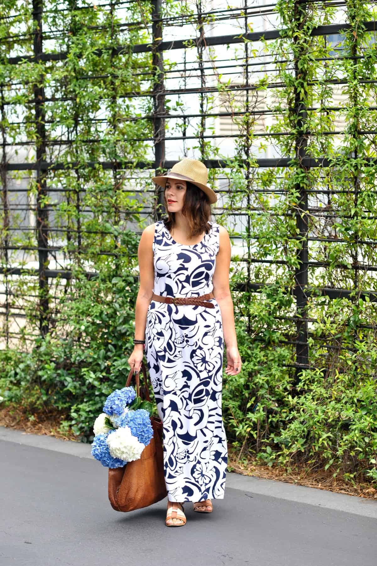 Talbots Printed Maxi Dress for summer via fashion blogger @mystylevita