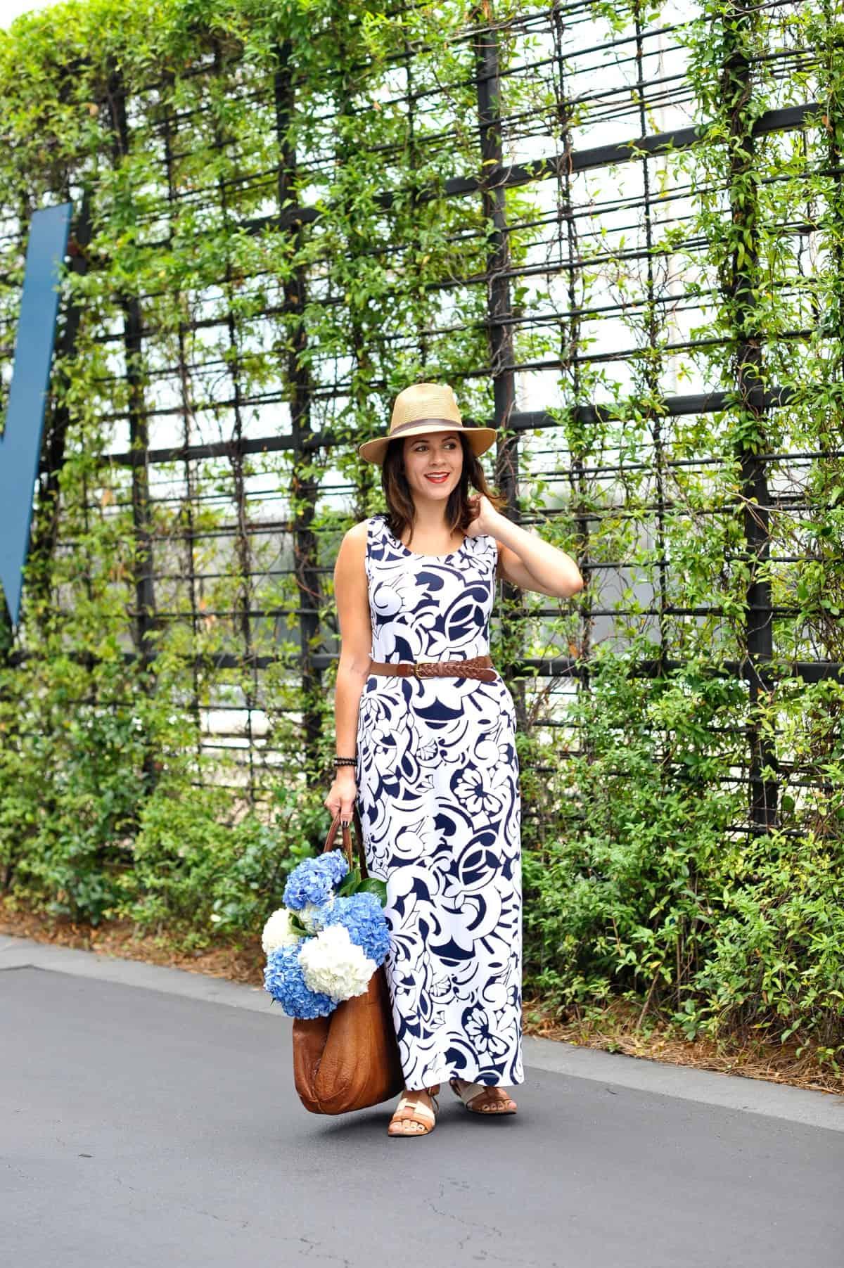 Talbots Printed Maxi Dress for summer via @mystylevita