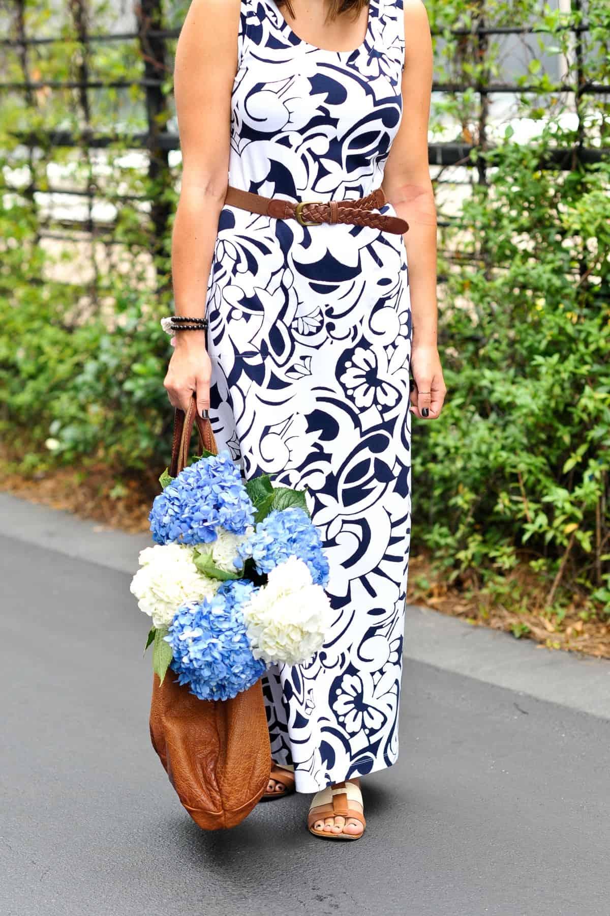 Talbots Printed Maxi Dress via @mystylevita