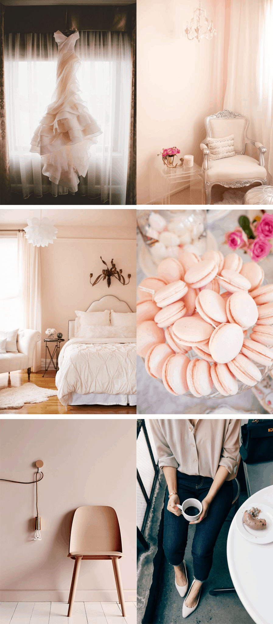 blush color inspiration for the home