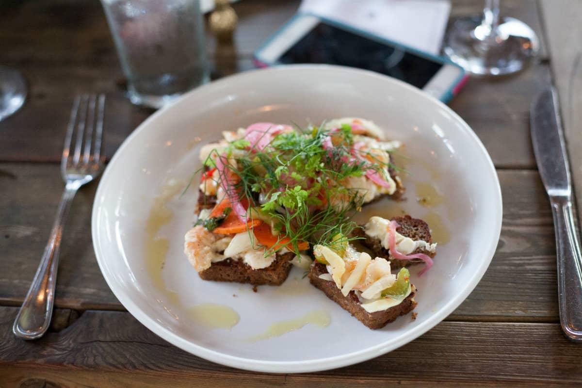 charleston restaurants, edmunds oast pickled shrimp appetizer, places to eat in Charleston, south carolina - My Style Vita @mystylevita