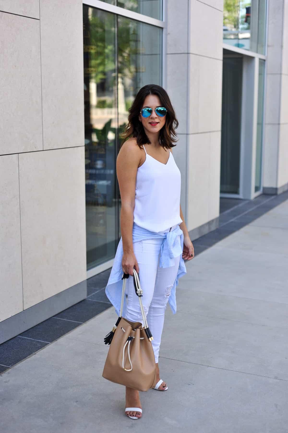 909935bf1a2a how to style white jeans via  mystylevita  My Style Vita