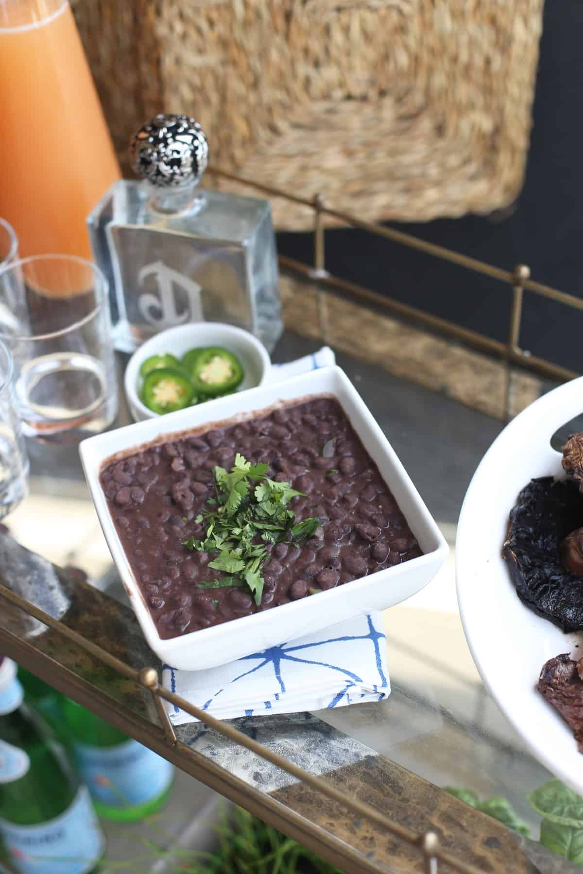 mexican style beans recipe for a bbq via @mystylevita - 1