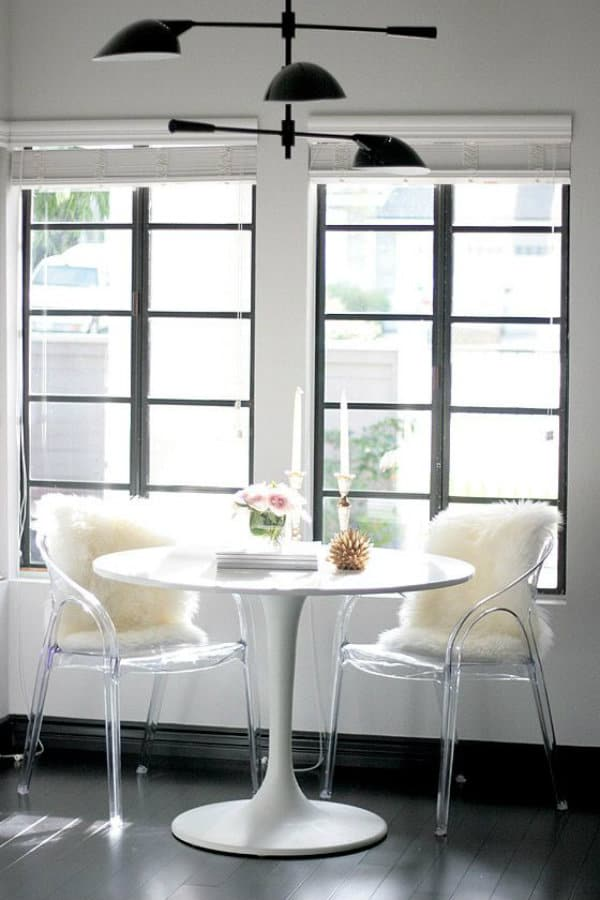 White Tulip Table With Ghost Chairs