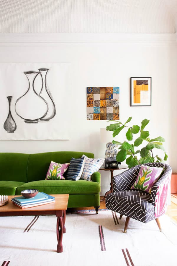 Green Living Room Designs: Emerald Green Sofa Ideas For The Living Room