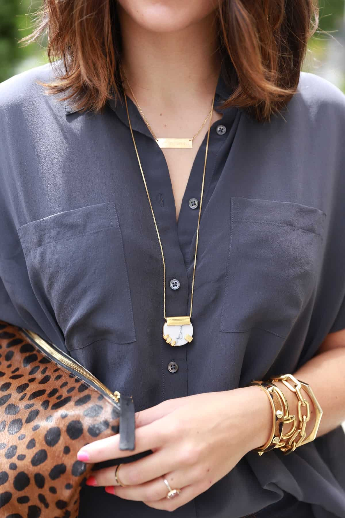 Madewell gold jewelry, Madewell Ponce city market grand opening via @mystylevita [My Style Vita]