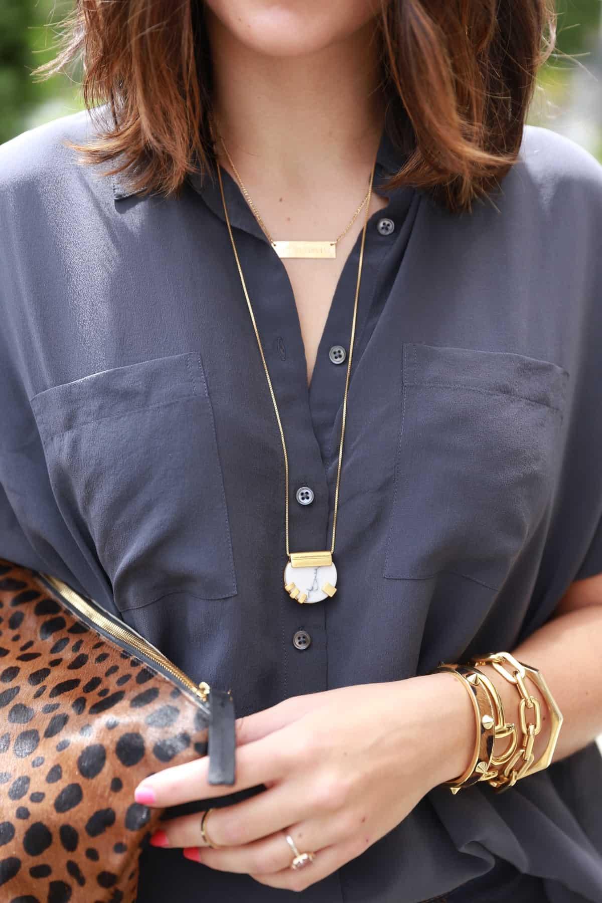 Madewell gold jewelry, Madewell Ponce city market grand opening via @mystylevita [My Style Vita]