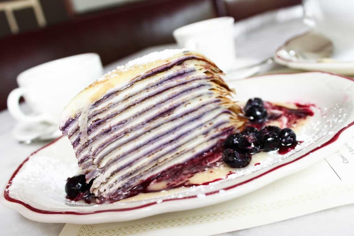 Marcel's Atlanta Restaurant crepe cake dessert