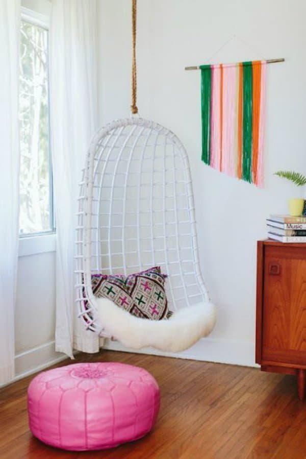 Hanging chair ideas for the home Hanging chair for bedroom