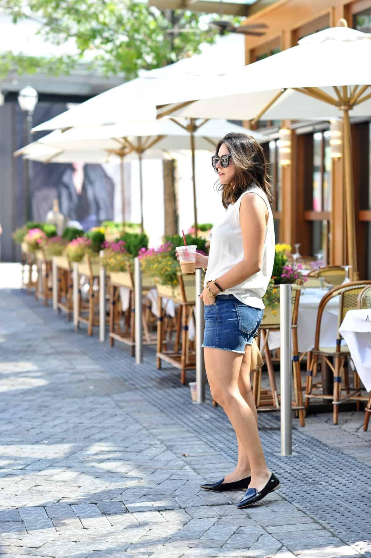 sole society cammila loafer and white button down via @mystylevita [My Style Vita]