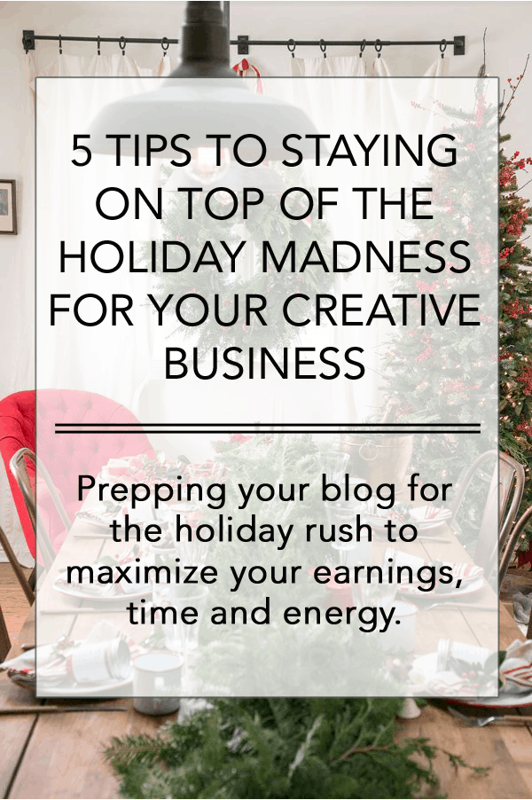Holiday prep for your blog, things to do for your blog during the holidays