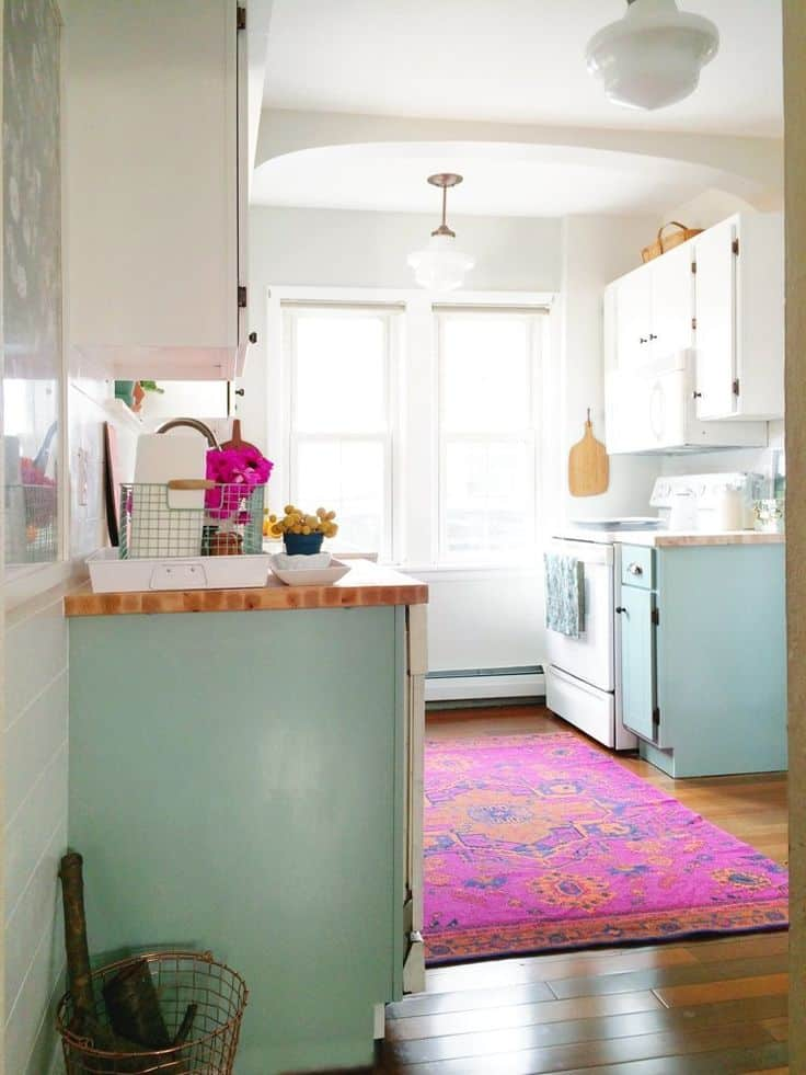 colorful Kitchen rug ideas, colorful kitchen