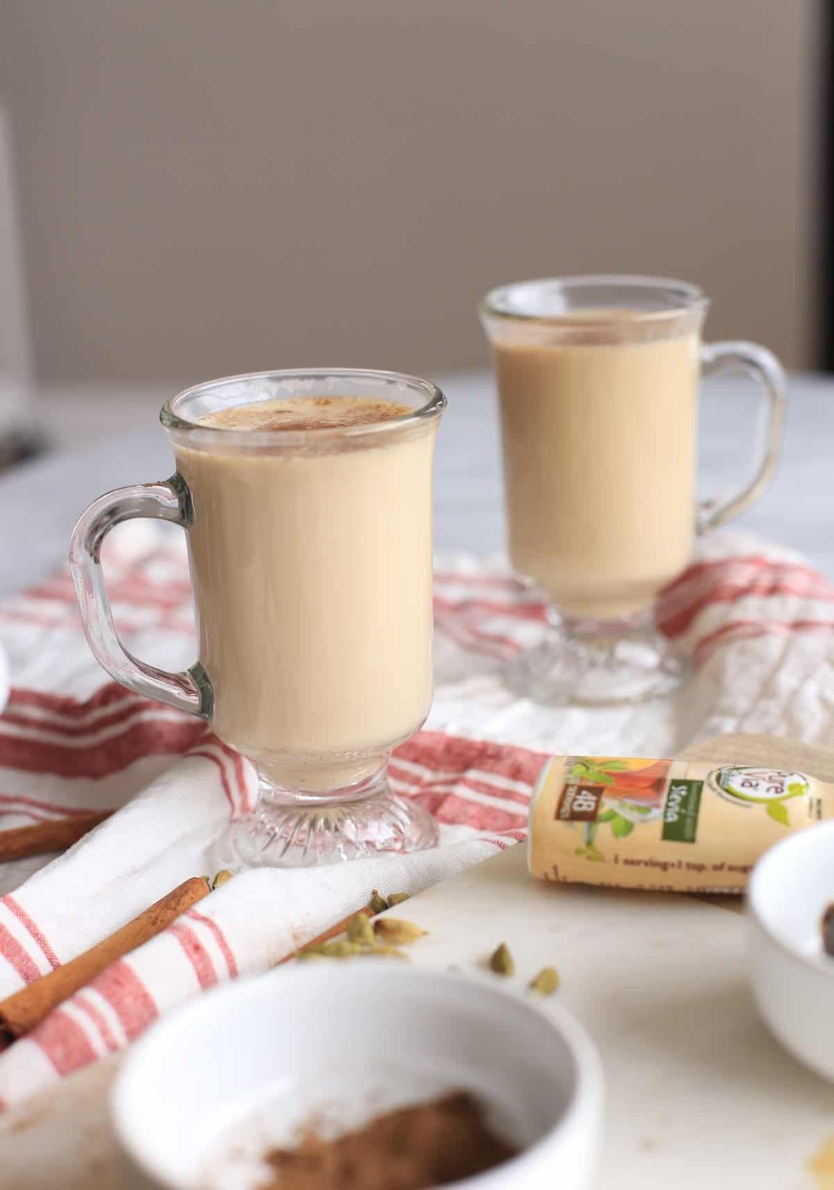 Chai Latte Ingredients and recipe via @mystylevita