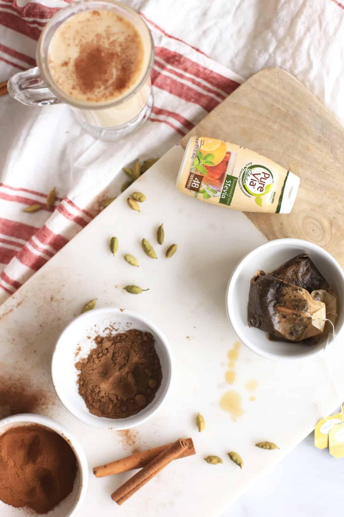 Chai Latte Ingredients via @mystylevita