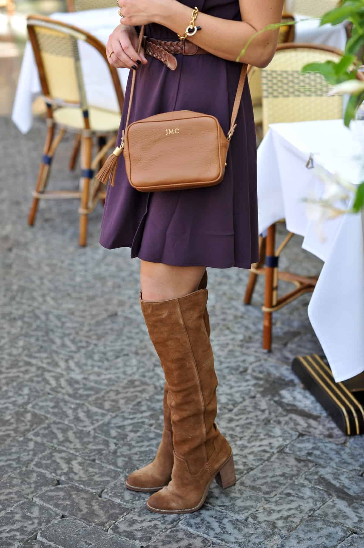 over the knee boots, thigh high boots with mini dress