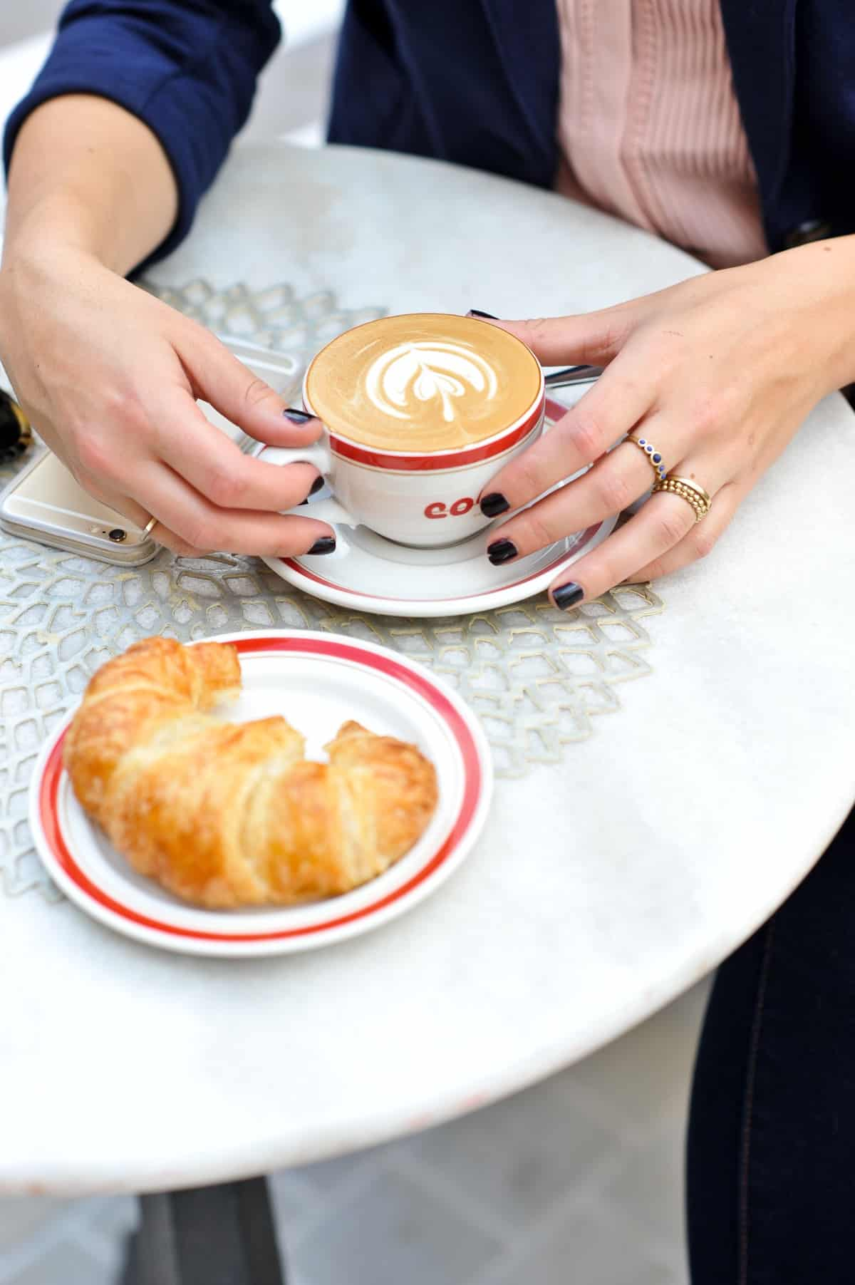 Best coffee spot in Atlanta, coffee and croissant - My Style Vita @mystylevita