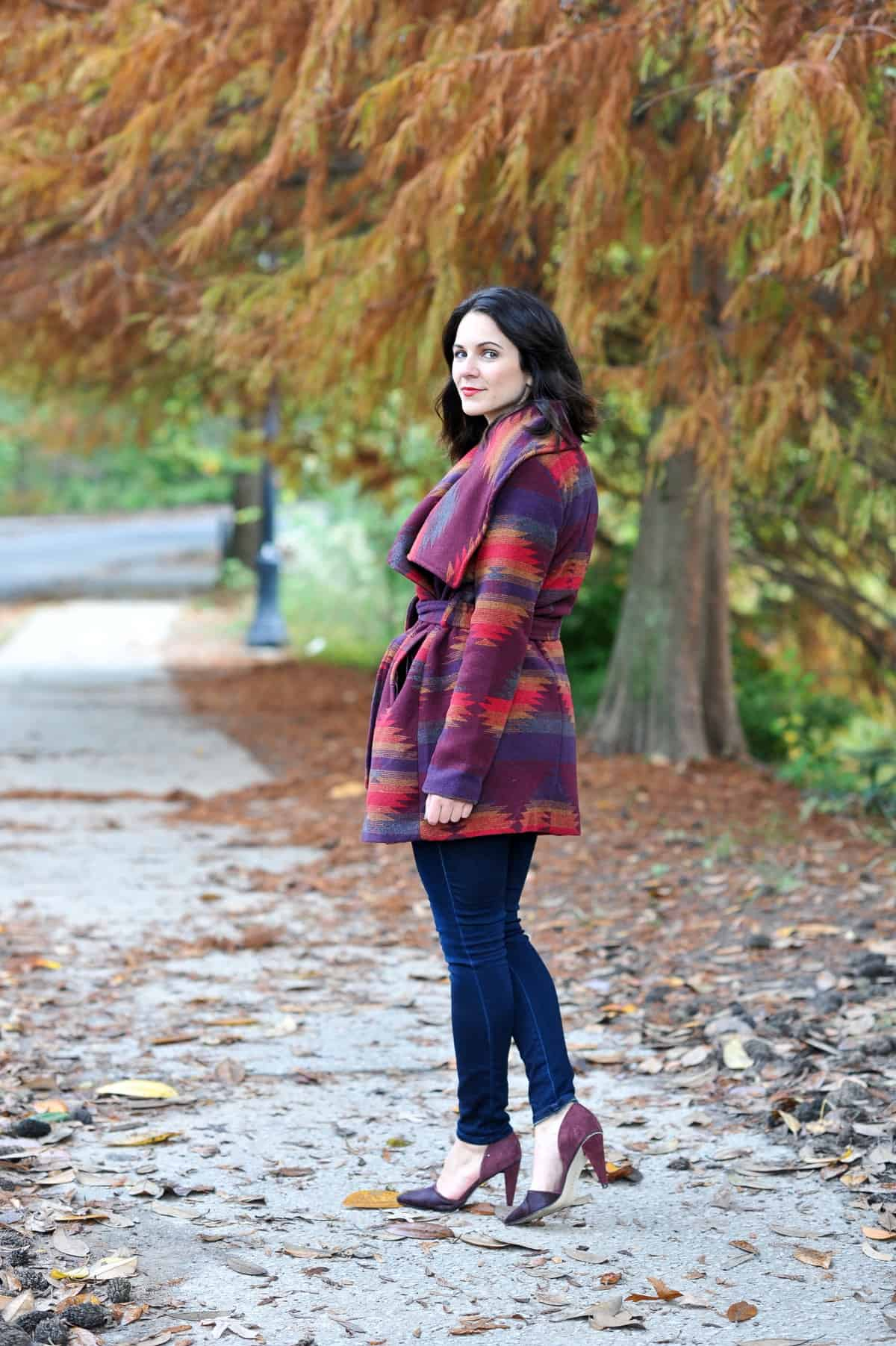 Aztec Wrap Coat, Winter outfit ideas via @mystylevita - 12