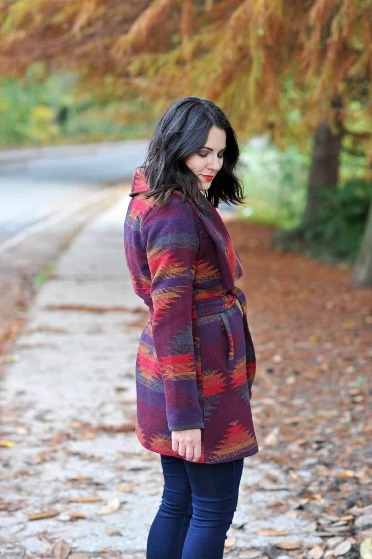 Aztec Wrap Coat, Winter outfit ideas via @mystylevita - 16