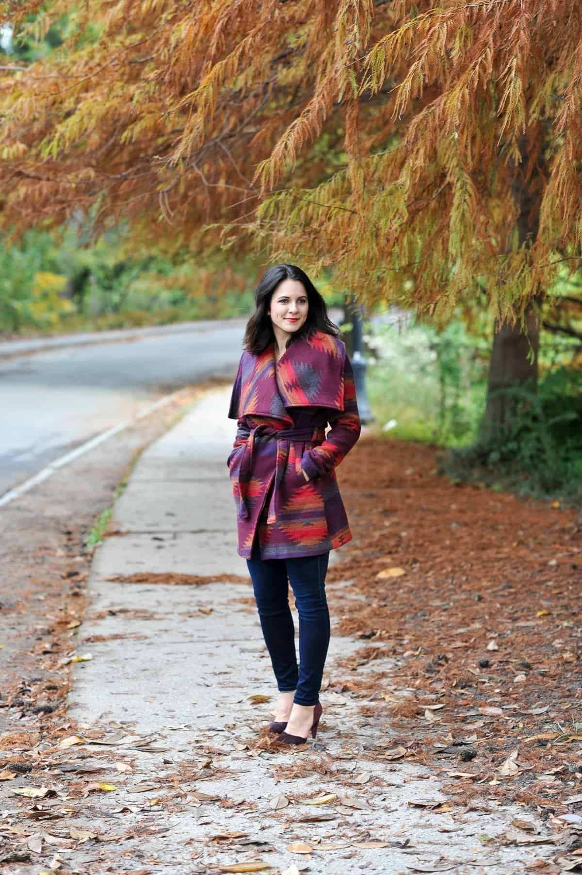 Aztec Wrap Coat, Winter outfit ideas via @mystylevita - 3