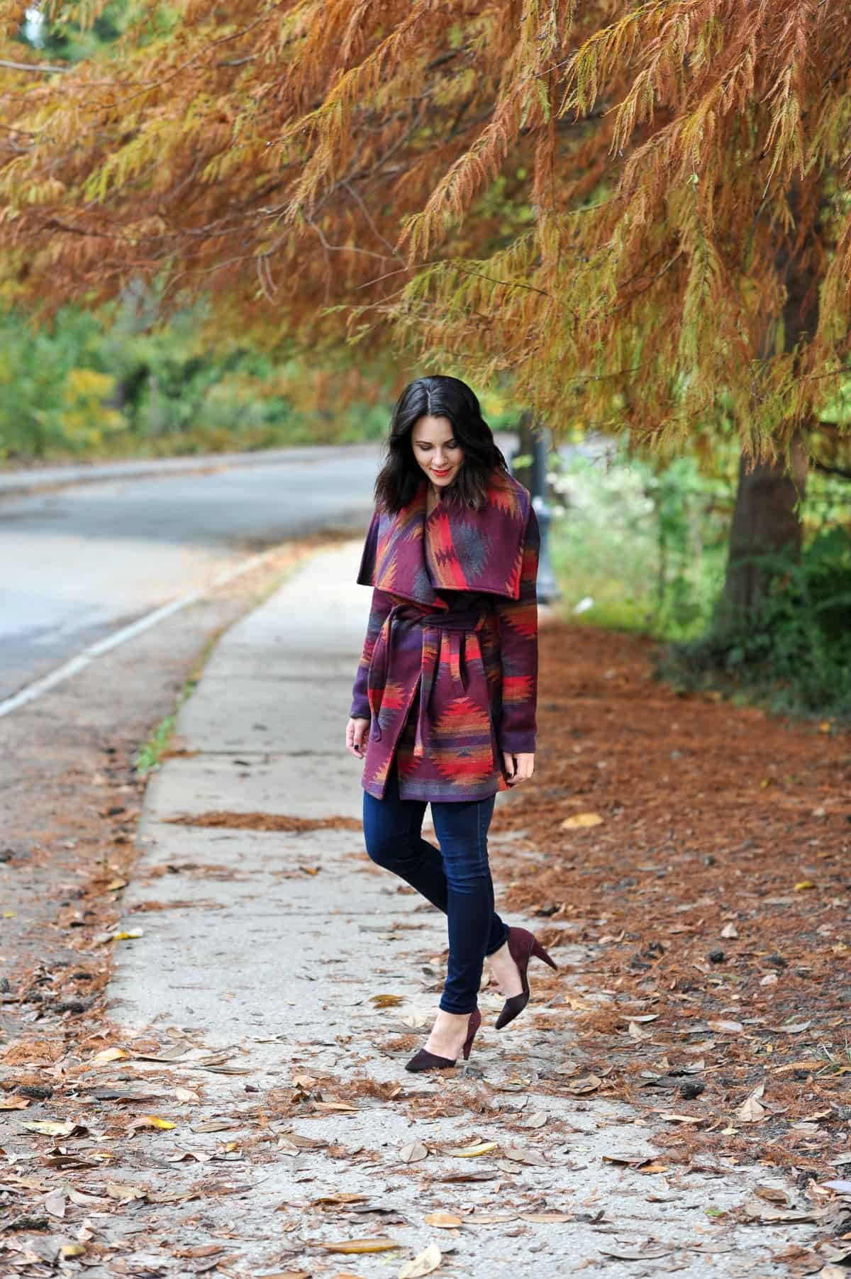 Aztec Wrap Coat, Winter outfit ideas via @mystylevita - 5