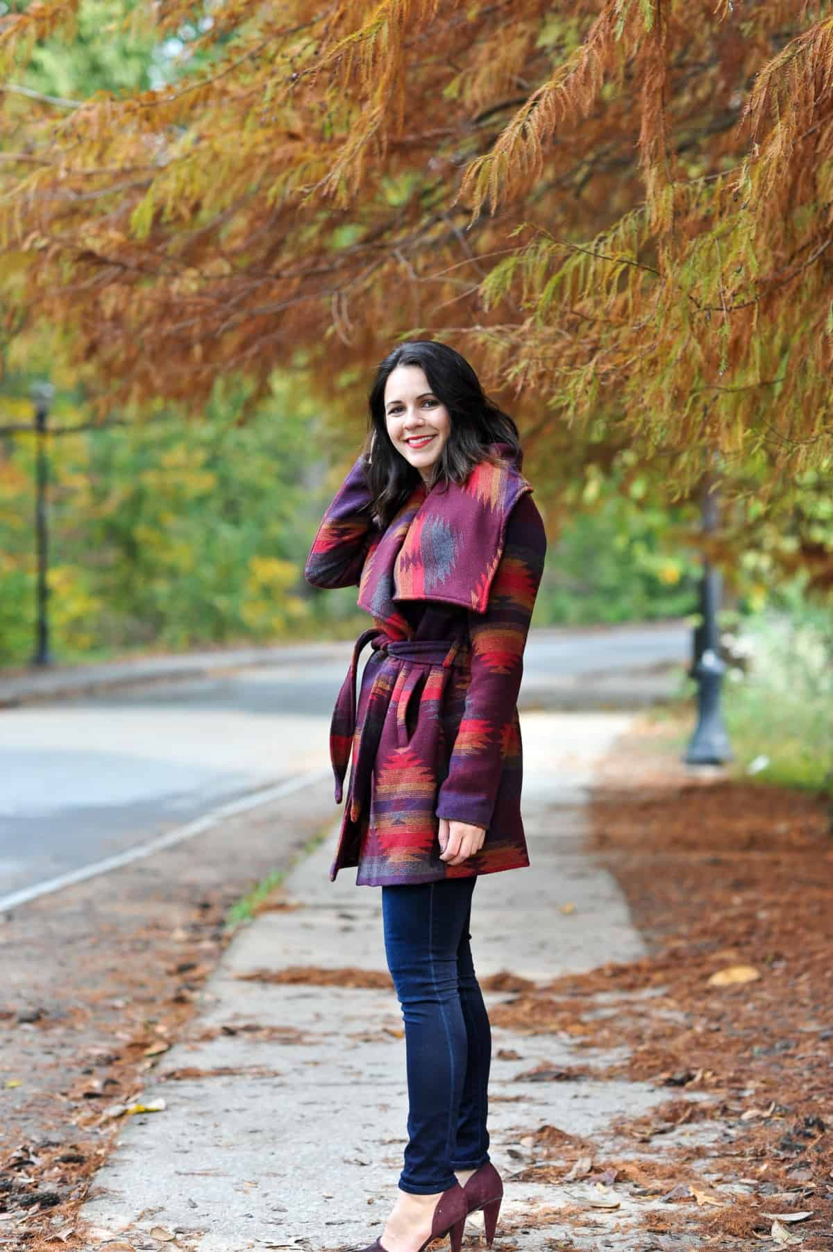 Aztec Wrap Coat, Winter outfit ideas via @mystylevita - 6