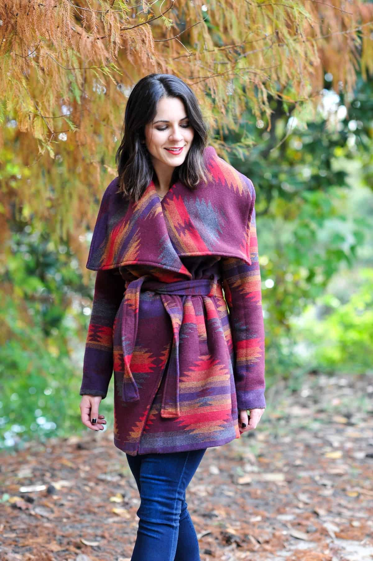 Aztec Wrap Coat, Winter outfit ideas via @mystylevita - 9