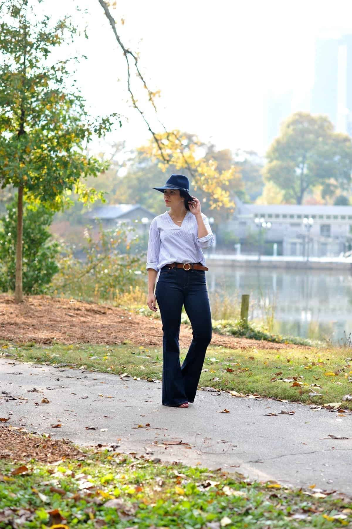 Madewell jeans and elk head clothing belt via @mystylevita