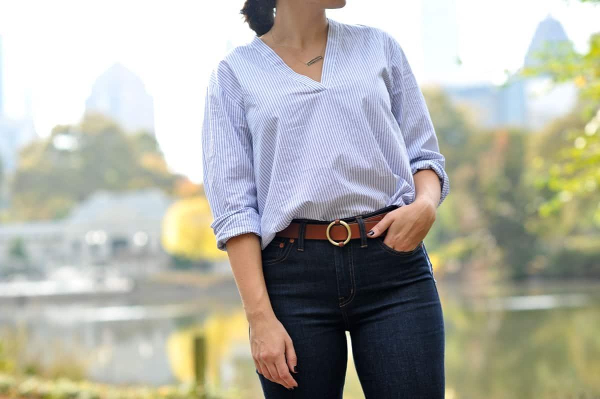 Madewell jeans and elk head clothing belt via @mystylevita