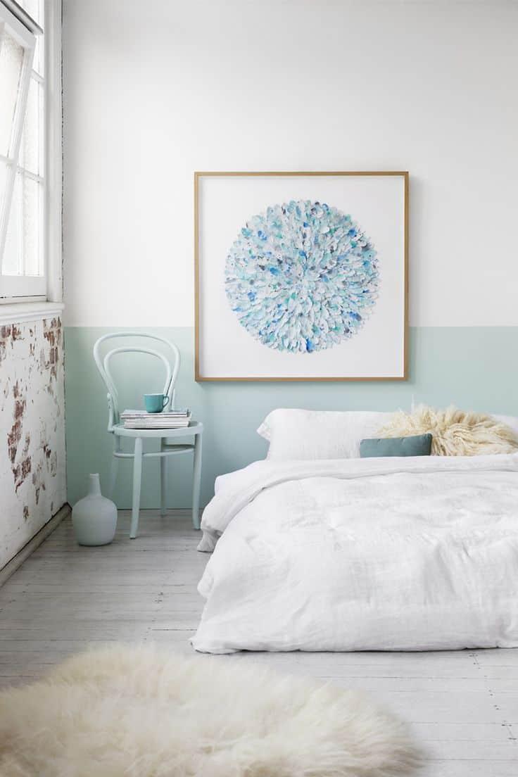 Half painted wall ideas - Camera da letto azzurra ...