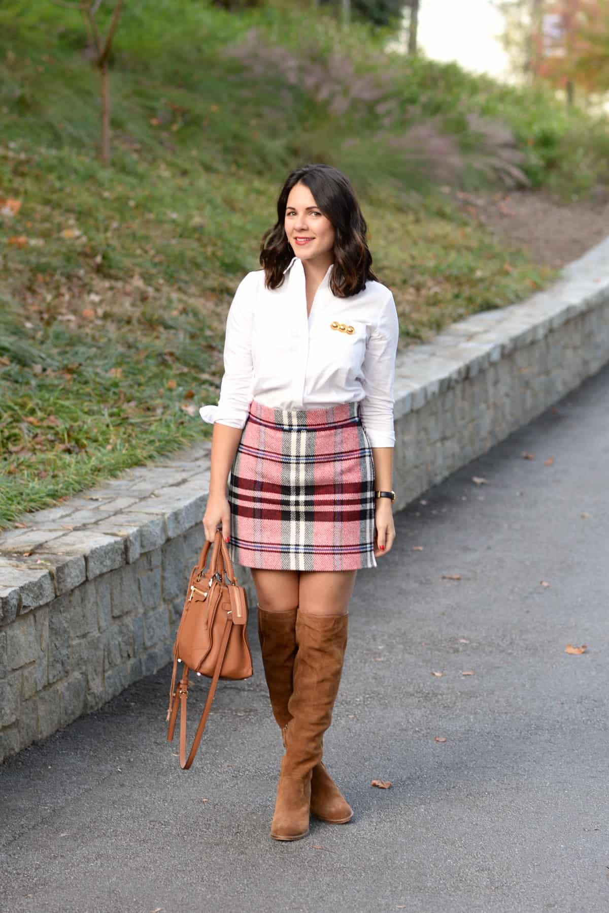 how to wear a plaid mini skirt for fall  my style vita