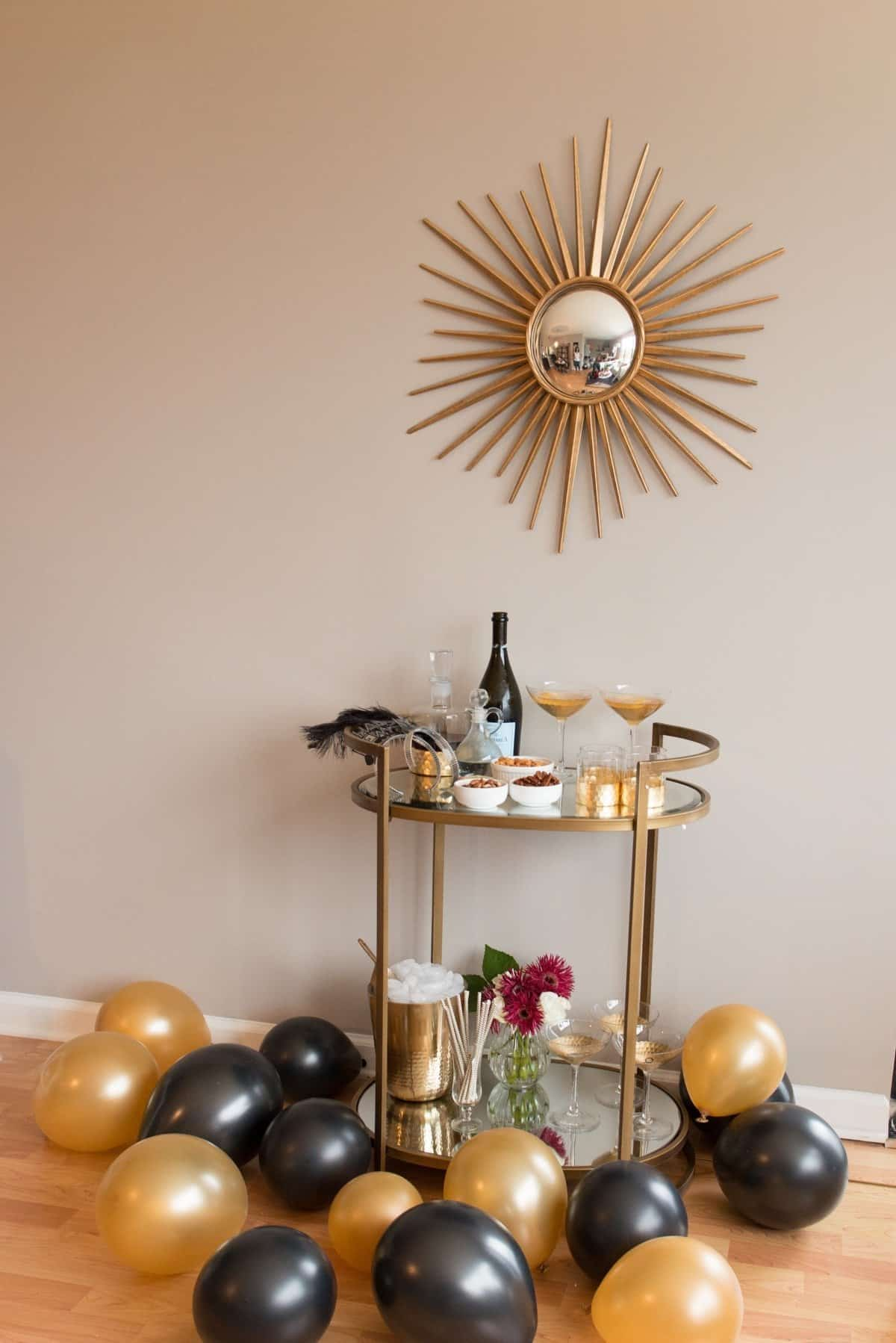 The Perfect NYE Bar Cart & Cocktail | My Style Vita