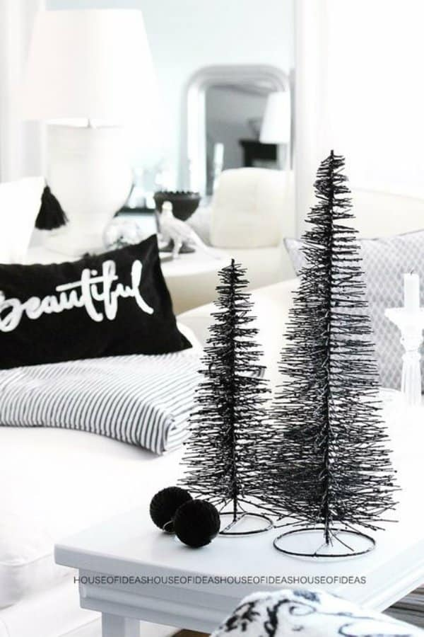 black and white christmas decor ideas