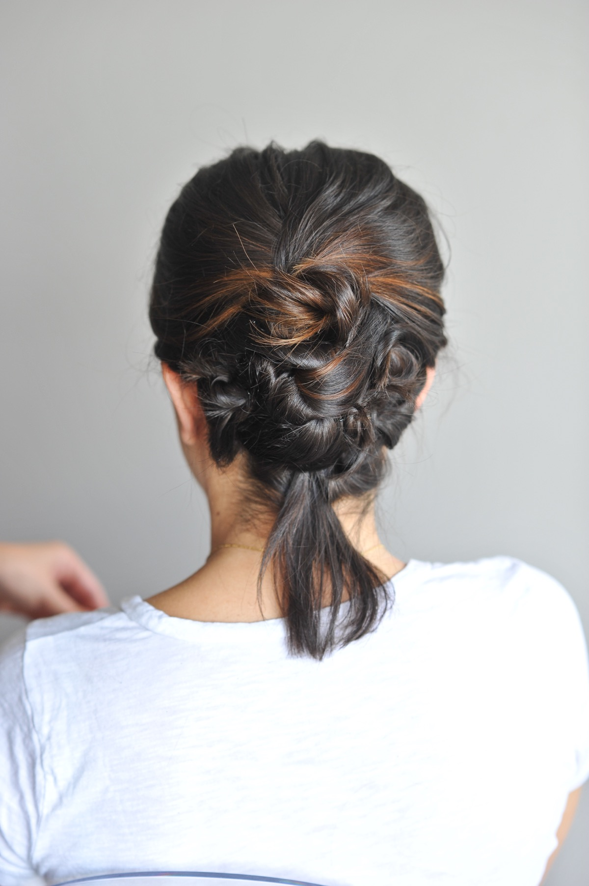 twisted up do hairstyle on short hair - @mystylevita - 10