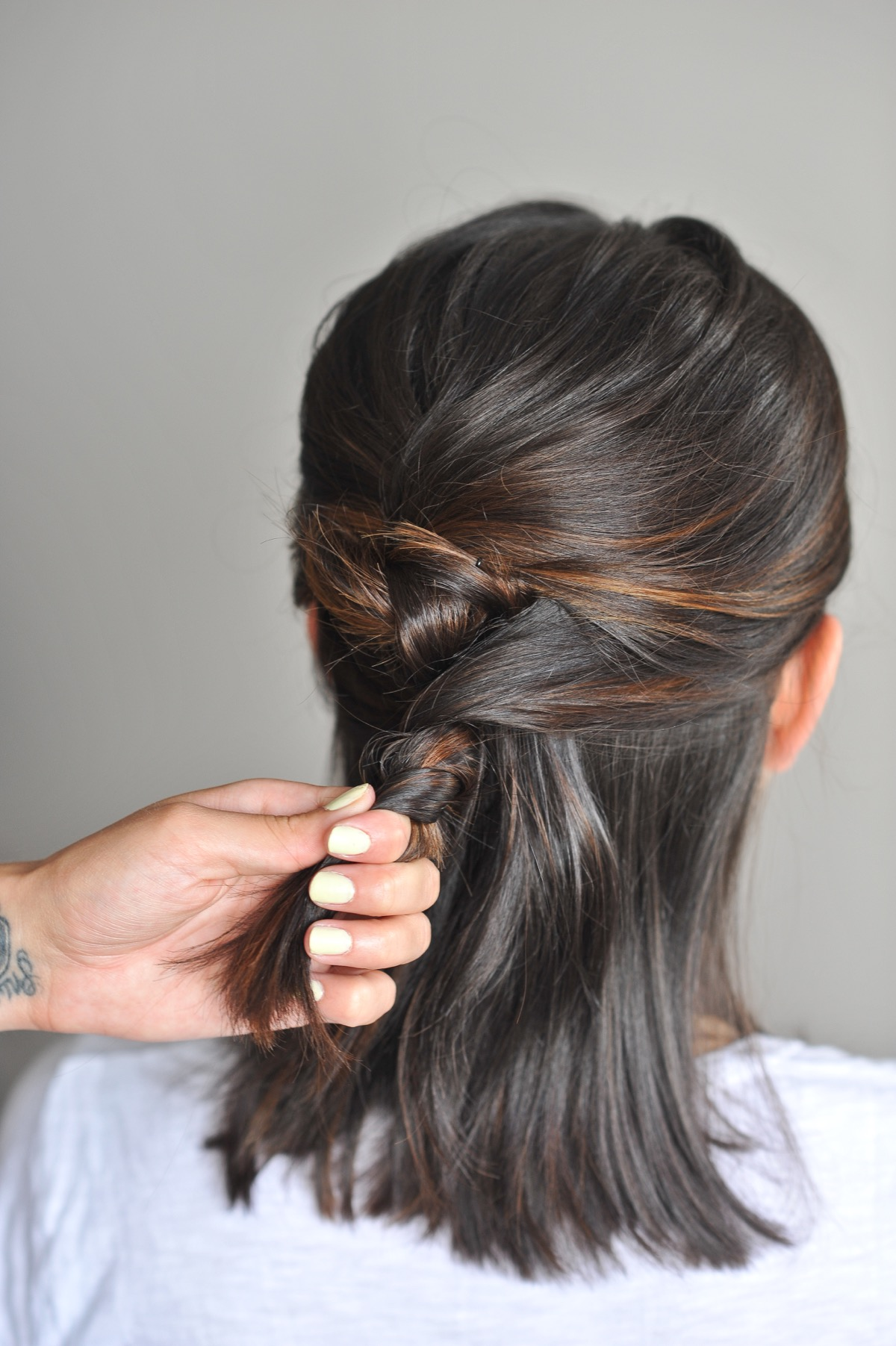 twisted up do hairstyle on short hair - @mystylevita - 5