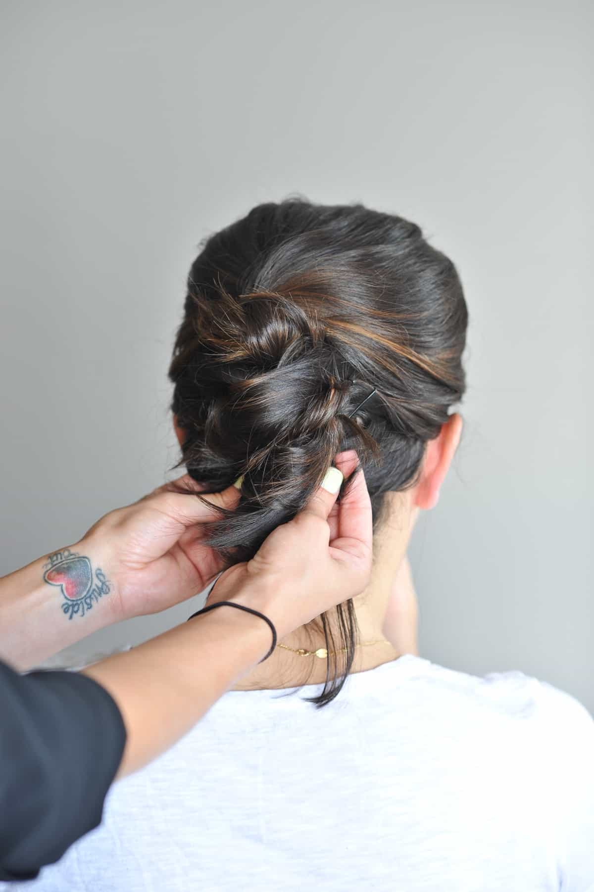twisted up do hairstyle on short hair, hairstyles for short hair, wedding hair ideas - @mystylevita