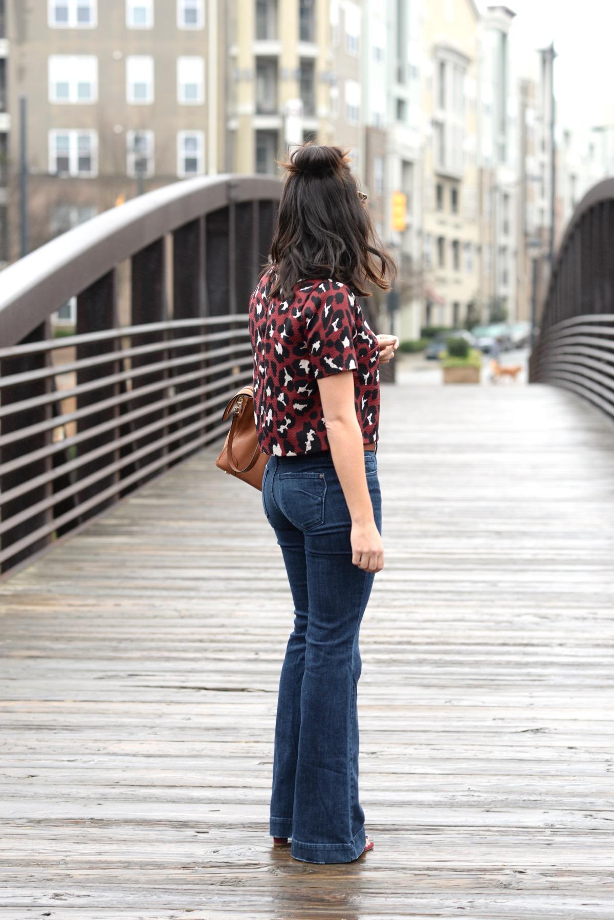 L. Mae Boutique Leopard Crop Top and Wide Leg Jeans - @mystylevita