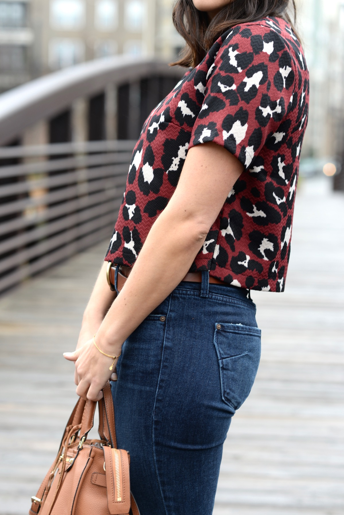 L. Mae Boutique Leopard Crop Top and Wide Leg Jeans - @mystylevita