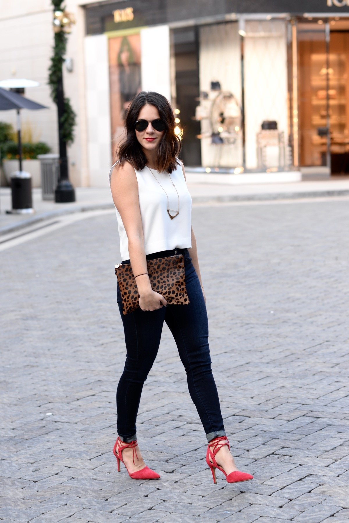 club monaco crop top and high waisted jeans  - @mystylevita