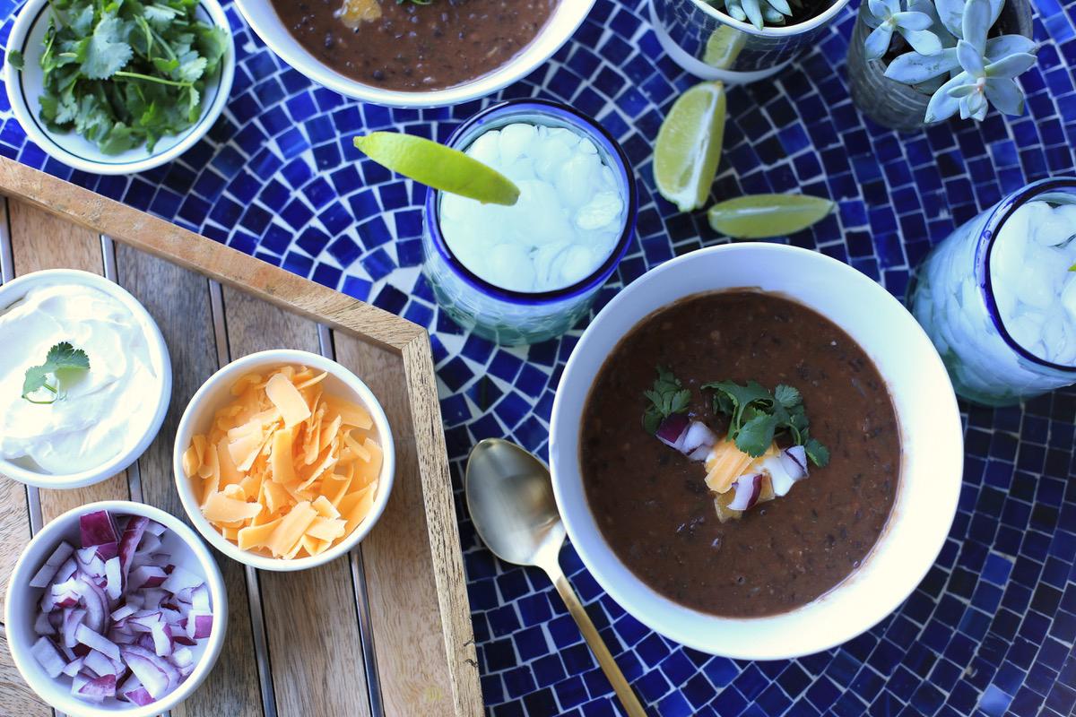 easy black bean soup recipe - @mystylevita